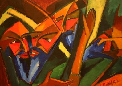 """""""Pharisees"""" by Karl Schmidt-Rottluff 1912"""