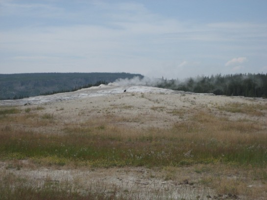 Old Faithful before eruption