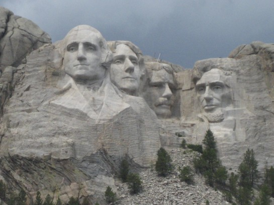 Mount Rushmore, taken from just inside the park entrance
