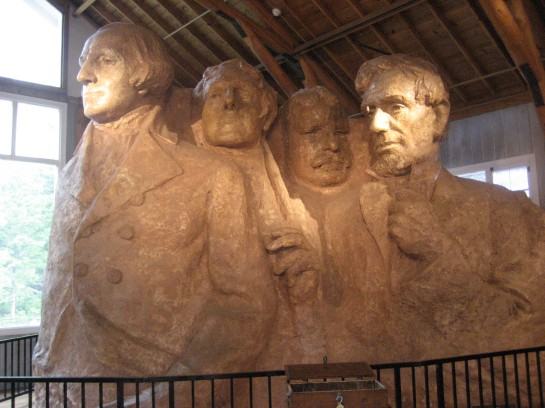 The original model for Mt. Rushmore, preserved in the sculptors studio